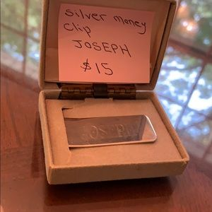 Other - Personalized Name Joseph Money Clip Silver